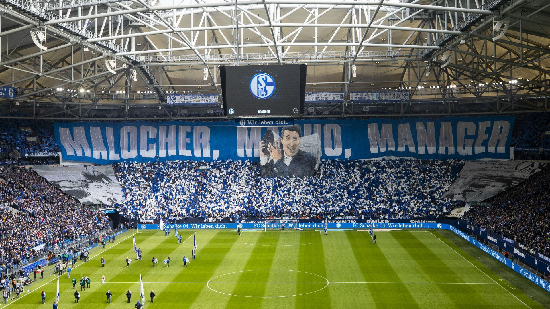 Schalke 04 Fans choreo Rudi Assauer