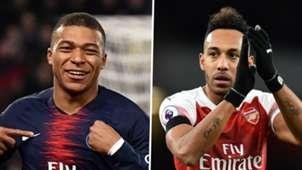 Kylian Mbappe, Pierre-Emerick Aubameyang, PSG, Arsenal