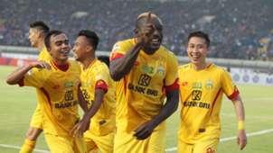 Selebrasi Dzumafo Epandi - Bhayangkara FC