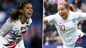 Alex Morgan, Fran Kirby, USA, England