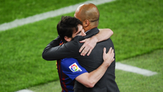 Lionel Messi Pep Guardiola Barcelona 2012