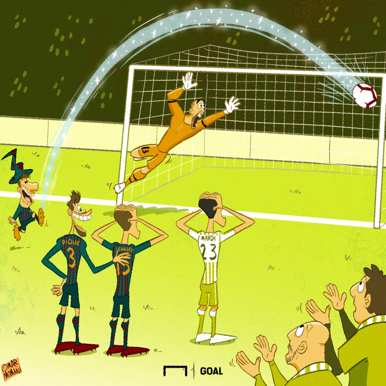 Cartoon: Messi's Betis hat-trick