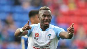 Bernie Ibini Newcastle Jets v Sydney FC A-League 04122016