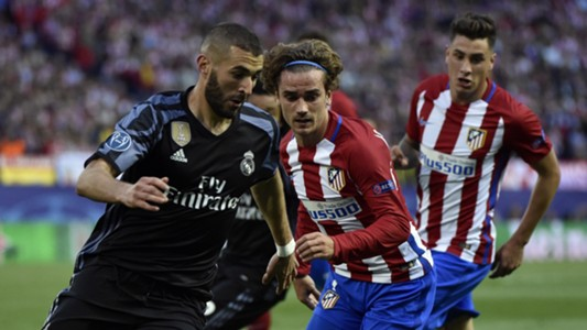 Karim Benzema Antoine Griezmann Atletico Real Madrid UCL 10052017