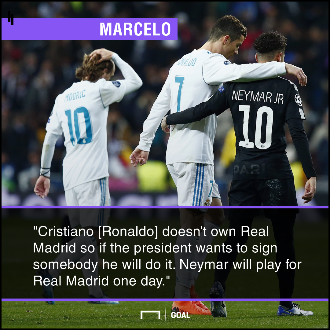 Neymar will play for Real Madrid Cristiano Ronaldo Marcelo