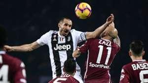 Giorgio Chiellini Simone Zaza Torino Juventus