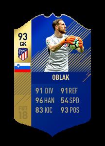 FIFA 18 La Liga Team of the Season Oblak