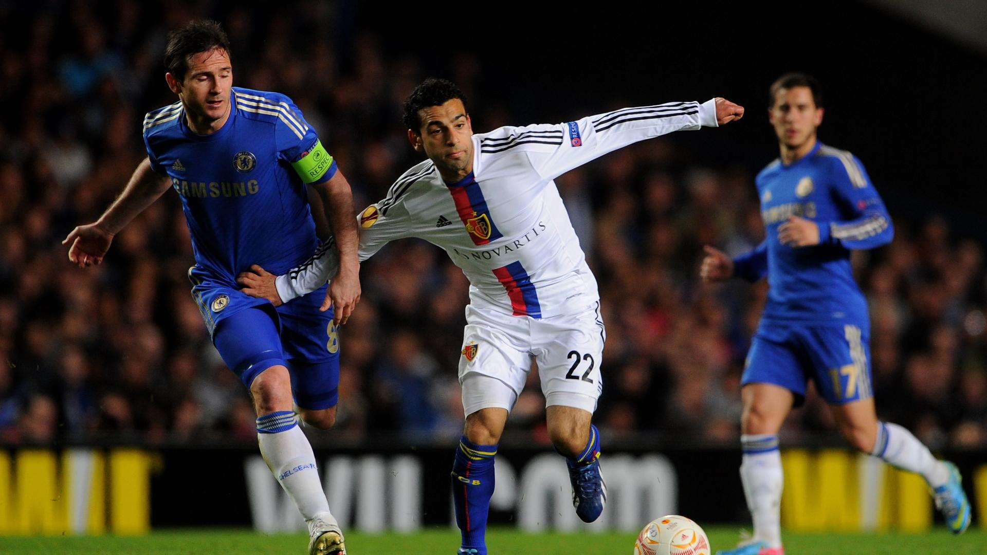 Frank Lampard, Mohamed Salah, Eden Hazard, Chelsea vs Basel