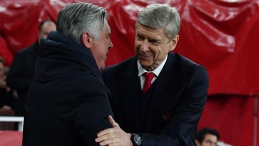 Carlo Ancelotti Arsene Wenger Bayern Munich Arsenal