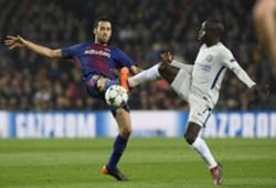 Busquets Kante Barcelona Chelsea UEFA Champions League