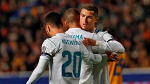 Cristiano Ronaldo Karim Benzema APOEL Real Madrid UCL 21112017
