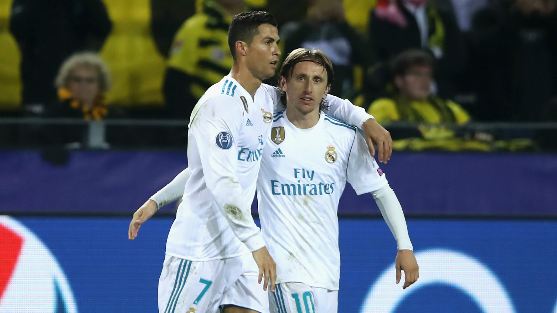 Cristiano Ronaldo Luka Modric Real Madrid 2017-18