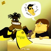Cartoon Batshuayi Conte