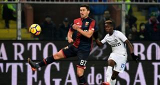 Yann Karamoh Ervin Zukanovic Genoa Inter Serie A