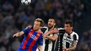 ivan rakitic giorgio chiellini mario mandzukic - juventus barcelona - champions league - 11042017