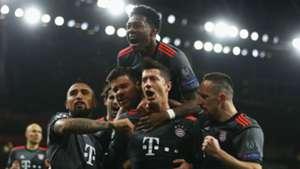 Bayern Munich celebrate v Arsenal