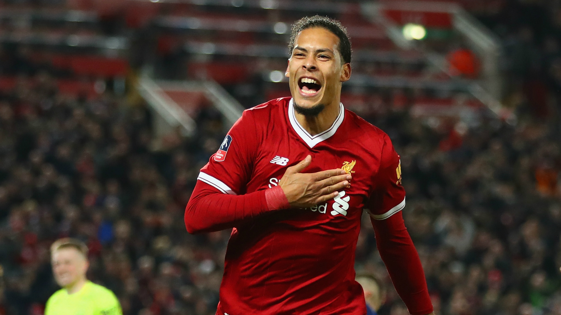 Virgil van Dijk Liverpool Everton