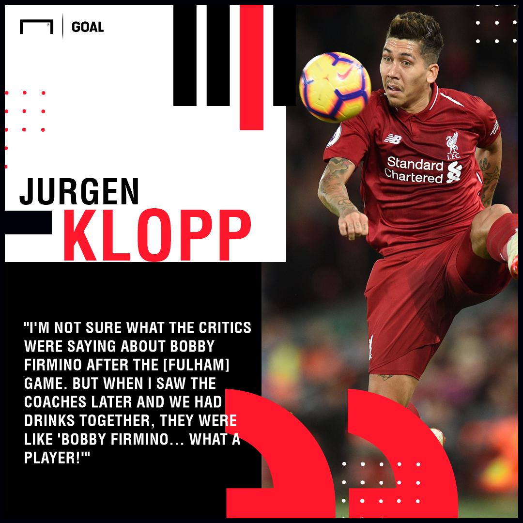 Roberto Firmino Jurgen Klopp Liverpool PS