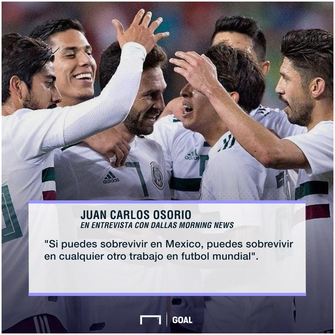 Presión de la Selección mexicana según Osorio