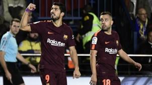 Luis Suarez Jordi Alba Villarreal Barcelona LaLiga