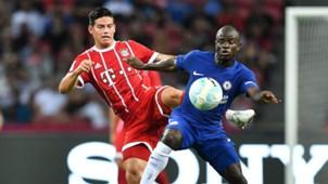 James Rodriguez N'Golo Kante Bayern Chelsea 2017