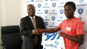 Oscar Igaida of AFC Leopards and Eugine Mukangula.j