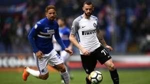 Marcelo Brozovic Gaston Ramirez Sampdoria Inter Serie A
