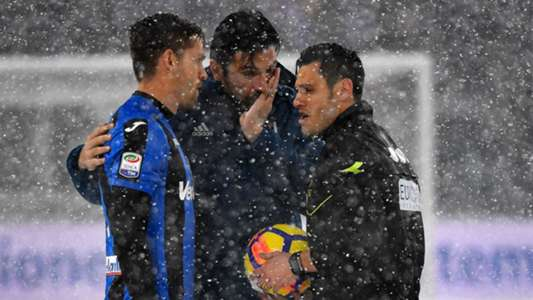 Juventus Atalanta Serie A snow