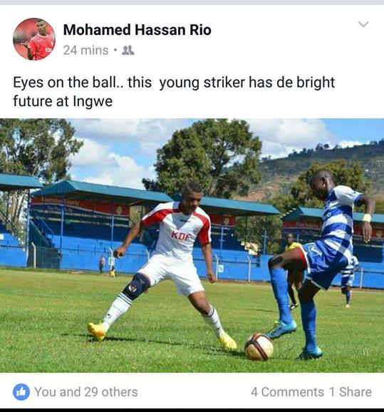 AFC Leopards striker.
