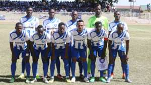 AFC Leopards squad v Fosa Juniors.