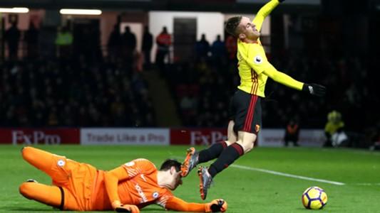 Thibaut Courtois Gerard Deulofeu Chelsea Watford