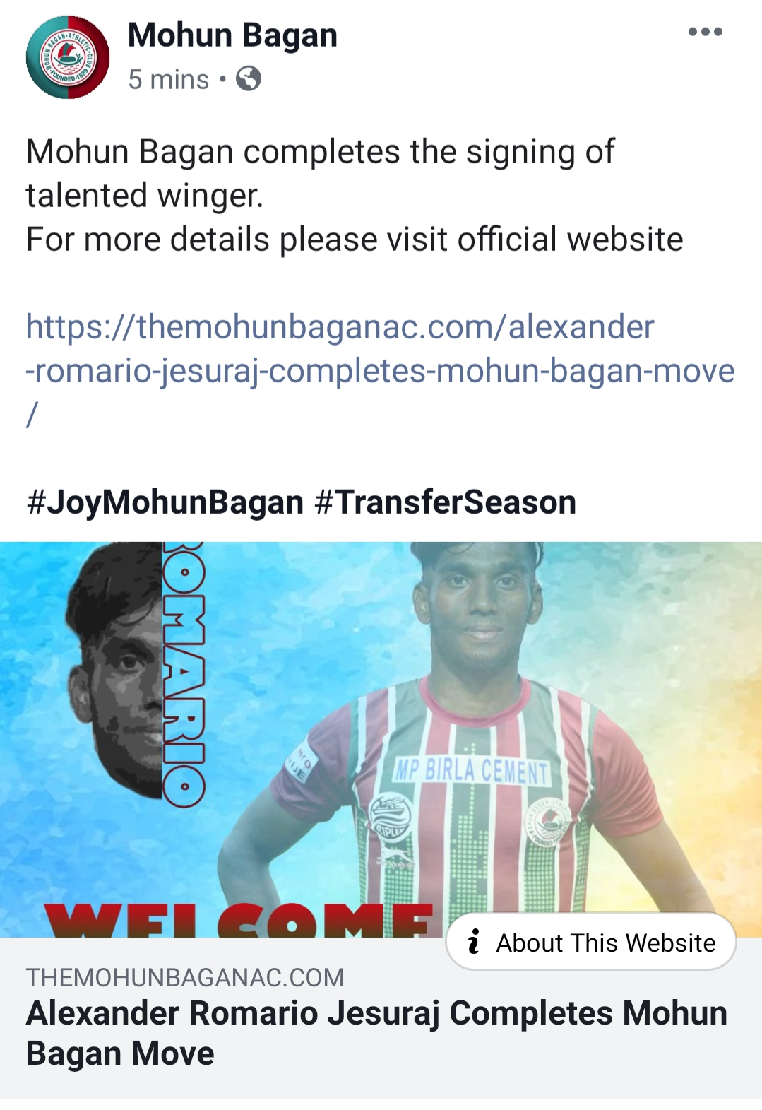 Mohun Bagan Alexander Jesuraj