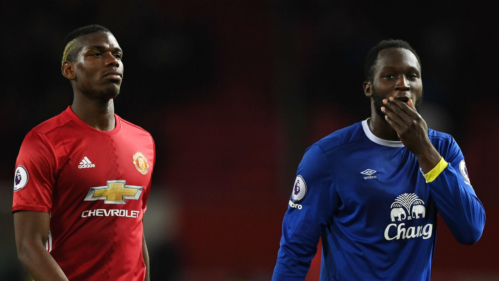 Paul Pogba Romelu Lukaku Manchester United Everton 04042017