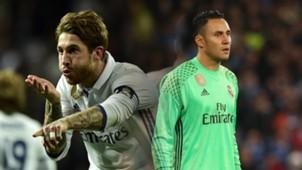 Sergio Ramos, Keylor Navas, Real Madrid
