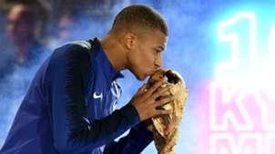Kylian Mbappe France World Cup trophy