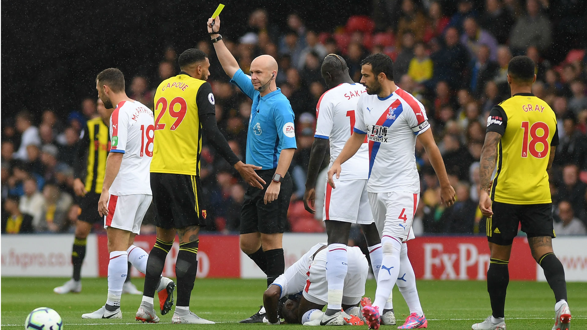 Capoue should have seen red for Zaha challenge, blasts Souness