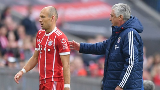 Arjen Robben Carlo Ancelotti 2017