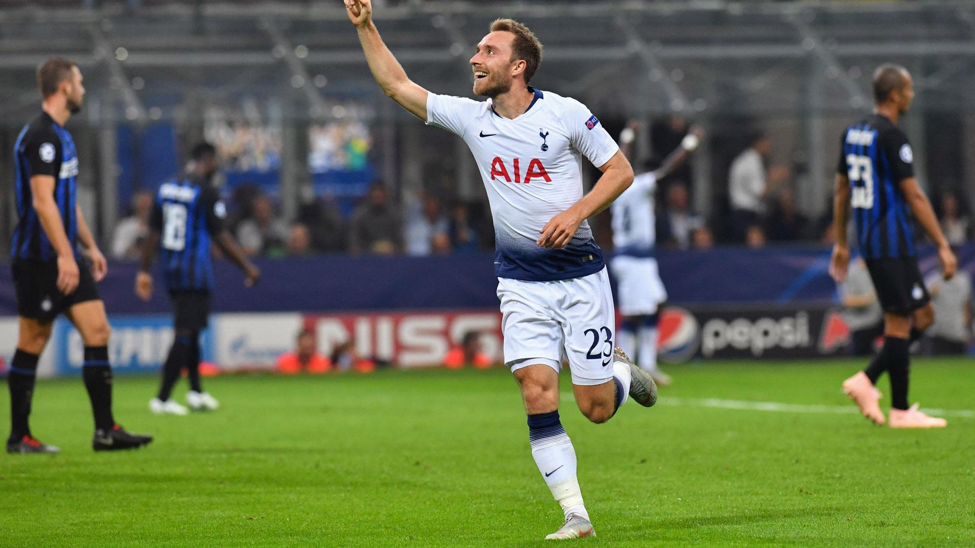 Eriksen Inter Tottenham Champions League