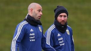 Messi Mascherano treino Argentina 20032018