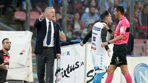 Carlo Ancelotti Napoli coach Serie A