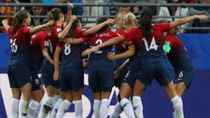 Norway celebrating women's World Cup 2019