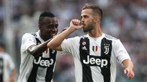 Blaise Matuidi Miralen Pjanic Juventus Serie A