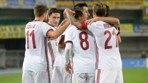 Milan celebrating