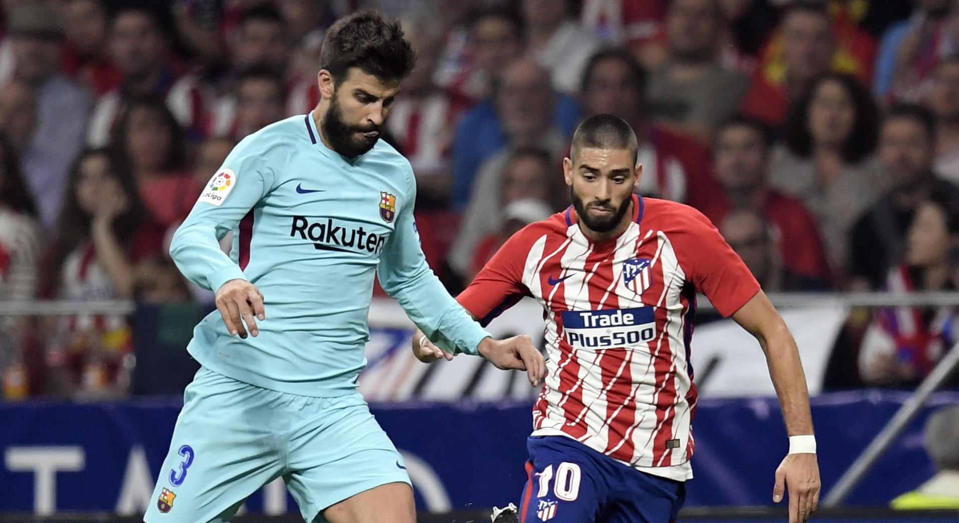 Gerard Pique Yannick Carrasco Atletico Madrid Barcelona