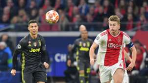 Matthijs de Ligt Cristiano Ronaldo Ajax - Juventus 04102019