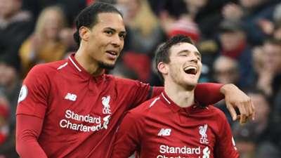Virgil van Dijk Andrew Robertson Liverpool 2018-19