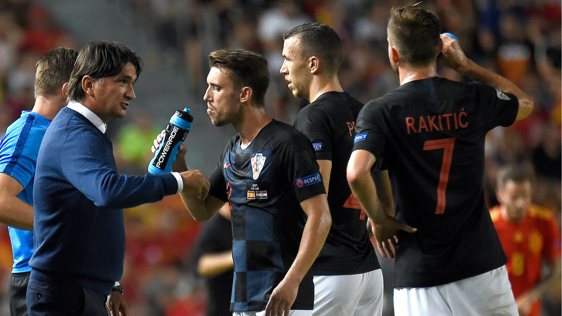 Croatia Spain Dalic Pivaric Perisic 11092018