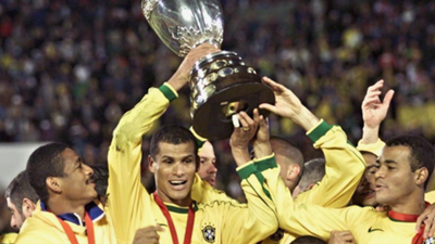 Rivaldo Copa America trophy