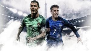 GFX EURO16 Portugal France Final Ronaldo Griezmann