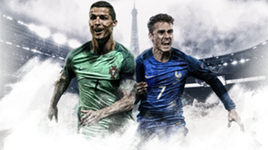 GFX EURO16 Portugal France Final Ronaldo Griezmann